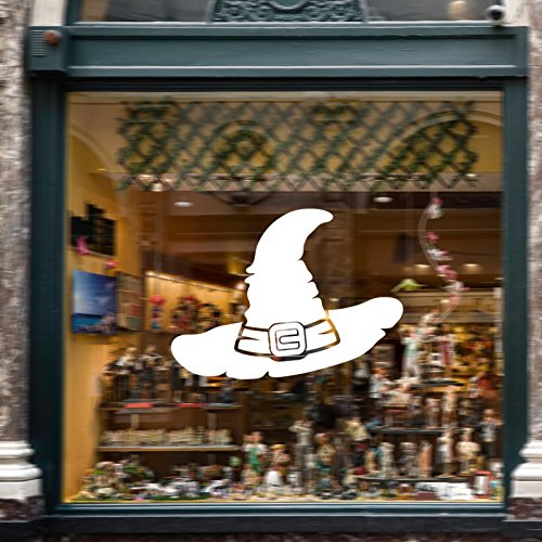 e Hut Aufkleber PVC herausnehmbare Mauer Fenster Aufkleber Terror Halloween-Dekorationen - weiß ()