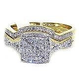 rings-midwestjewellery. com Mujer Diamond Juego de...