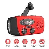 Radio Solaire Portable, AOZBZ Main Manivelle Self Powered AM/FM/NOAA Radio, Dynamo...