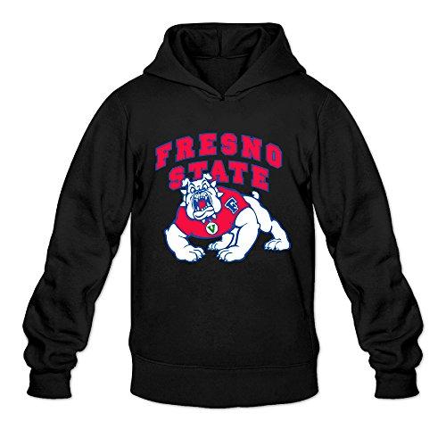 AK79 Herren Kapuzenpullover Fresno State Bulldogs Football schwarz (Infinity-sweatshirt)