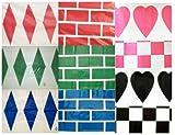 Cubiertas Jumpstack fardo (elegir un abanico de colores y patrones) - guardaanimales ayudas de entrenamiento ideal de beneficios para el joven y alumno jinetes como el experimentado., color  - green brick/diamond, tamaño 2 unidades