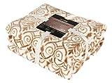 DecoKing Coperta in Microfibra Coperta in Marocco Panno in Microfibra Coperta in Pile Coperta in Pile Morbido Sanft kuschelig marokanischer Stile Ornamento, Microfibra, Beige, 150 x 200
