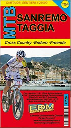 MTB-4 Sanremo. Carte dei sentieri di Liguria per mountain bike MTB VTT