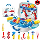 Henicx: High Quality Doctor Medical Kit for Kids, 18pcs Pretend Play Doctor Playset