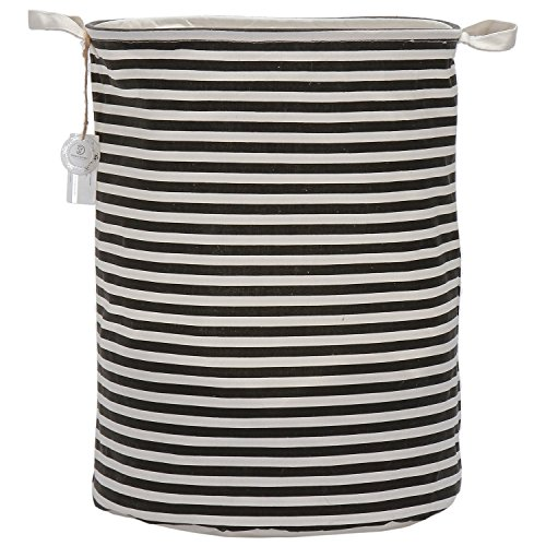 sea-team-waterproof-coating-ramie-cotton-fabric-folding-laundry-hamper-storage-basketblack-stripe-by