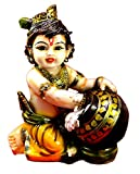 #10: Amazing India Hand Carved Baby Krishna Resin Idol Sculpture Statue Size 6.5 inches