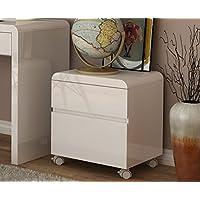 White High Gloss 2 drawer cabinet