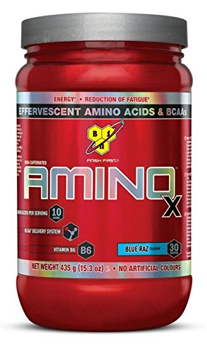 BSN Supplemento Nutrizionale Amino X, 30 Srv, Blue Raspberry It/Fr/Sp - 435 gr