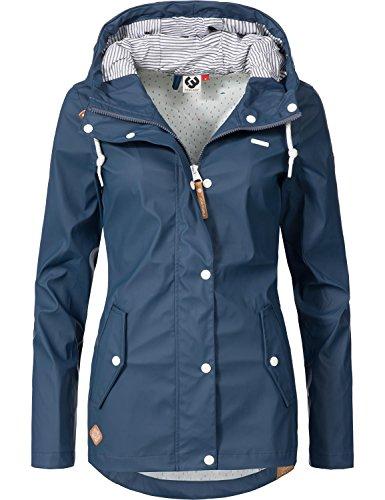 Ragwear Damen Übergangs-Jacke Outdoorjacke Regenmantel YM-Marge Denim Blue Gr. XS (Frauen Regen Jacke)