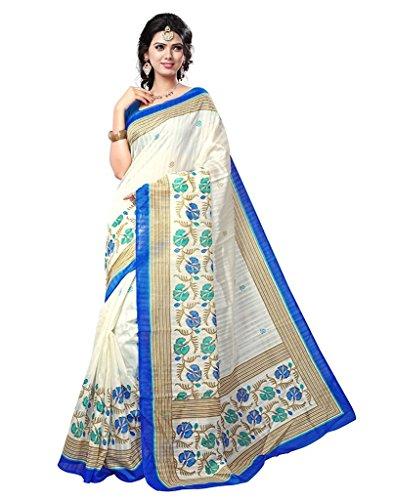 Jaanvi Fashion -  Sari - Donna Blue Taglia Unica