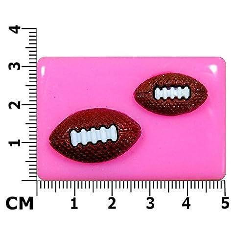 Ballons de Rugby Moule en Silicone pour décoration de gâteau/Cupcake Toppers Décoration de gâteaux glaçage pâte Outil à sucre Par les fées Blessings