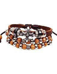 SUYA pulseras,3 PC, estilo de Bohemia, joyería, femenino, cuentas pulsera, joyería retro