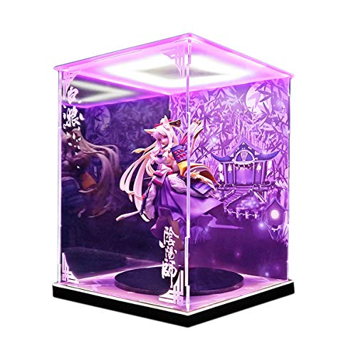 SR-estilo División Onmyoji Dios White Wolf Modelo marco de la exhibición Caja de luz LED hecha a mano...