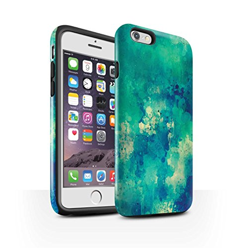 STUFF4 Glanz Harten Stoßfest Hülle / Case für Apple iPhone 6S / Frau/Kleid/Schick Muster / Teal Mode Kollektion Farbe/Chaos/Graffiti