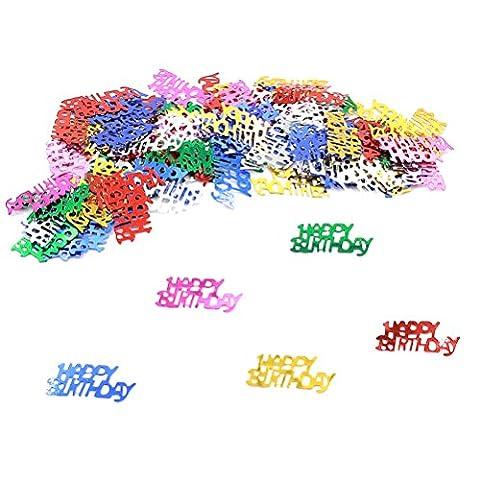 37yimu Mix Farbe Nr. Konfetti metallic Folie Konfetti Geburtstag Party Supplies, für Tischdekorationen, 50Gramm Herzlichen Glückwunsch zum Geburtstag