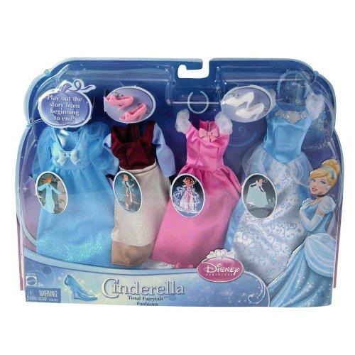 Mattel X4129 - Disney Princess Cinderella, enthält 4 Kleider-Set