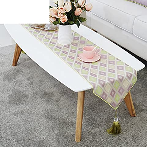 Moderne Einfache Tischläufer,Tisch Dekoriert Couchtisch Fahne Tuch,Mode Tuch Zart Bett Handtuch,Tv-schrank Abdeckung Flagge-A 30x180cm(12x71inch)