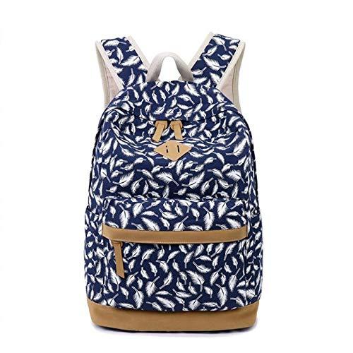 ZFLL SchulrucksackKinderrucksackSchultaschen für Mädchen Federdruck Canvas Rucksack für Laptop Schultasche Mädchen Schultasche-in Schultaschen von Luggage & Bags (Lila Rucksack Von Under Armour)
