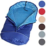 TecTake Saco de invierno dormir térmico para carrito silla de bebé universal abrigo polar azul