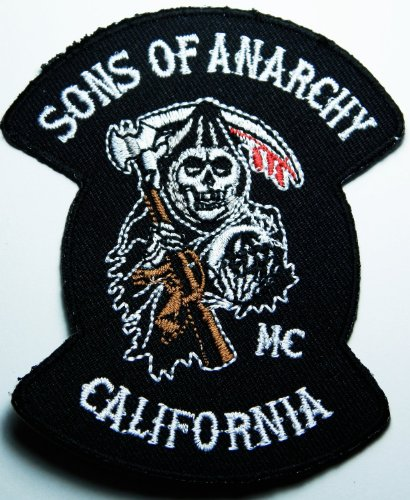 Sons Of Anarchy SOA Reaper logo Embroidered Iron on Patch Style05
