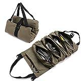 Werkzeugtasche mit 5 Reißverschlusstaschen, strapazierfähig, für Elektriker, HVAC, Klempner, Zimmermann oder Mechaniker, Grün