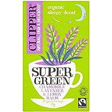 CLIPPER - Té Verde Descafeinado Sleepy - con Manzanilla, Lavanda y Melissa - Fairtrade - 20 bolsas