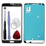Vitre Bleue Foncé pour Samsung Galaxy Note 3 NEO SM-N750 ou LTE LITE SM-N7505 Bleu + Adhésif Autocollant Original + Kit Outils - Vendu sans écran Lcd