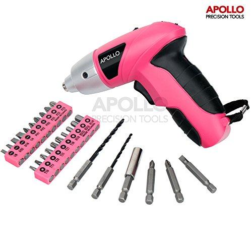 Apollo Mini Akkuschrauber in Pink 4,8 Volt
