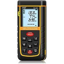 60M / 196ft Laser Measure Meter, Senhai Handheld Distanza / Area / Volume telemetro strumento con livella a bolla per la casa installazione, costruzione ispettore-100 Data Storage