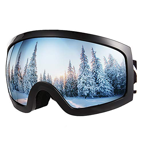 Bfull OTG Lunette de Ski, Lunettes danti-buée et Coupe-Vent pour Les Hommes,Les Femmes et Les Jeunes, Protection UV 400 et lentille danti-éblouissement.