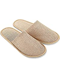 Amazon.it  Pantofole Donna Chiuse - Beige  Scarpe e borse 57ddfbe5c14