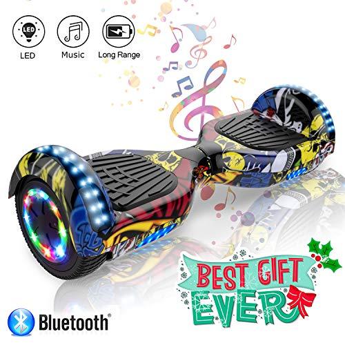 Kategorie <b>Zweirad E-Board (Hoverboard) </b> - COLORWAY 6,5 Zoll Hover Scooter Board Elektro Scooter Smart Scooter Self Balance Board - Bluetooth - LED Lichter - EU Sicherheitsstandards