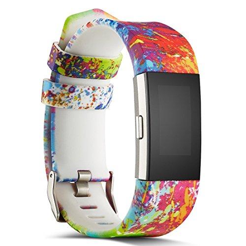 Charge 2 Armband, BarRan® Silikon Sportarmband Uhrenarmband Uhr Erstatzband Anti-Kratz Anti-Luftblasen Kristall zu Schützen Schutzfolie für Fitbit Charge2