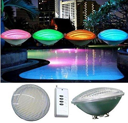 sazu ITOU 12V Color Changing piscine 54W LED Lights, 450W halogène Bulb Replacement, piscine LED Light Bulb for Pentair Hayward Light Fixture with 1x télécommande IR contrôleur