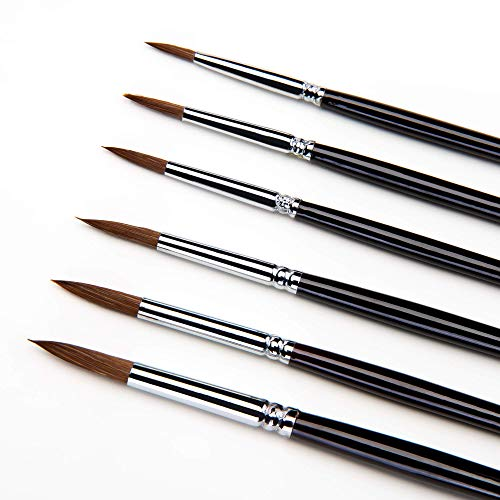 Juego de pinceles para pintar, sable detail brush set