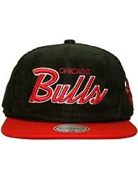 Mitchell   Ness – Gorra con visera plana para hombre Chicago Bulls Cord ... 63aae96e69d