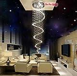Lightinthebox@ L170 cm Spiral Klar Kristall Beleuchtung Deckenlampen Kronleuchter Hängeleuchte Ø 60cm 8 x GU10, max 50W
