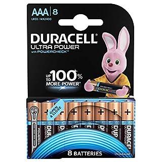 Duracell Ultra Power Alkaline AAA Batterien, 8er Pack