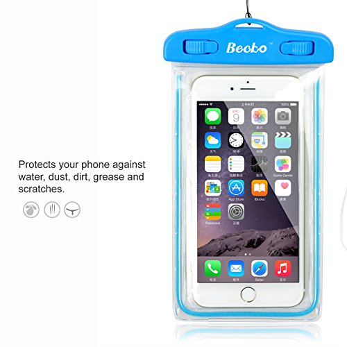 becko-blue-fluorescence-waterproof-case-touch-responsive-front-and-back-universal-waterproof-wallet-