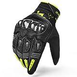INBIKE Motorrad handschuhe Herren Motorradhandschuhe Touchscreen Warm Atmungsaktivität Hartschalen-Schutz Winddicht