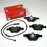 Zimmermann Bremsbeläge/Bremsklötze/Bremsen + Warnkabel für vorne/für die Vorderachse