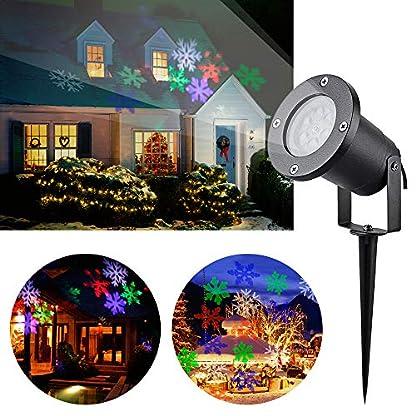 LED-Weihnachtsbeleuchtung-Auen-IP65-Projektor-Lampe-Wechselbaren-Musters-Wasserdicht-auen-Projektionslampe-RGB-Snowflake-Lichteffekt-Beleuchtung-fr-Party-Geburtstag-Urlaub-Halloween-Weihnachten