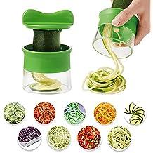 Cortador de Verduras Cherbell Cortador de Verduras Frutas en Espiral Pelador y Rallador de Verduras, Premium Cortador en espiral mano para verduras Patatas Para Espaguetis