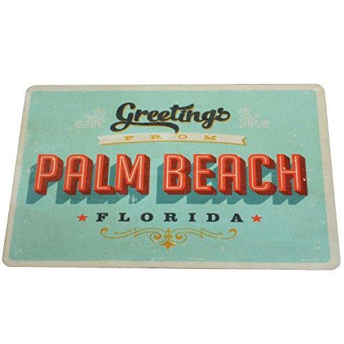 Vintage Alfombra de baño baño Alfombrilla de secado rápido 60x 40cm antideslizante | extra fino retro estados unidos Diner Palm Beach