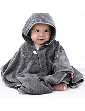 Mabyen Baby Poncho - Babybademantel Kapuzenbademantel Badehandtuch 100% Baumwolle Grau & Hellgrau Bekannt Aus