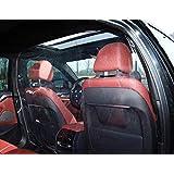 SUV Car Protective Film EVA Transparent Partition Curtain Velcro Self-adhesive Film Taxi Driver Protection Curtain 140x200cm 55.19x78.74