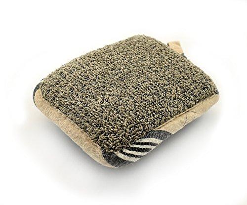 MAGNUM - Esponja de baño exfoliante con lino y algodón