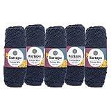 maDDma  5 x 100g Strickgarn Kartopu Cotton Mix Strickwolle Häkelgarn Sommergarn Farbwahl, Farbe:2108S Graublau