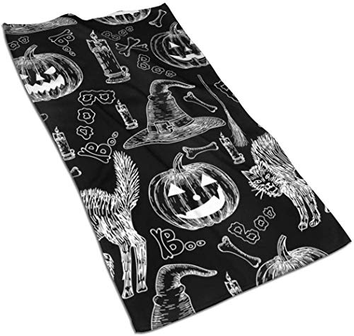 Osmykqe Halloween Holiday Kitchen Towels-Dish Cloth-Machine Washable Cotton Kitchen Dishcloths,Dish Towel & Tea Towels for Drying,Cleaning,Cooking,Baking (16x27.5 Inch)