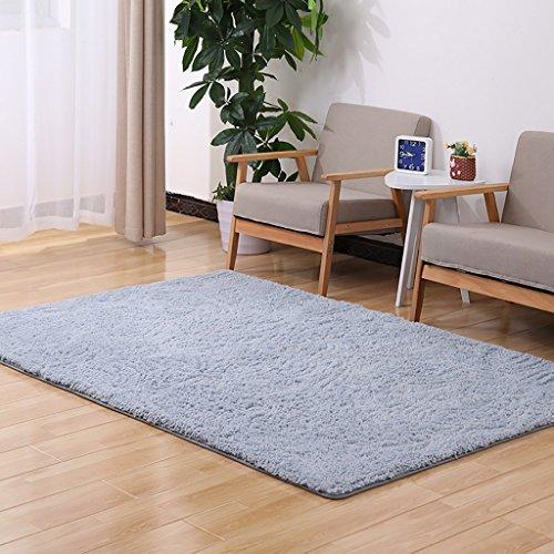 Creative Light-Teppich Feste Farbe Teppiche Wohnzimmer Schlafzimmer Sofa Study Garderobe Teppich Fuß Pad Büro Computer Schreibtisch Und Stuhl Non - Slip Matten ( Farbe : Grau , größe : 2.0m*3.0m )